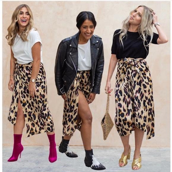 75f86af78ec7 Never Fully Dressed Skirts | Jaspre Leopard Wrap Skirt Xl | Poshmark